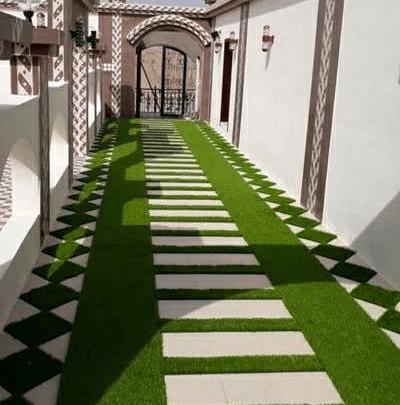 تصميم حدائق فلل خليجية